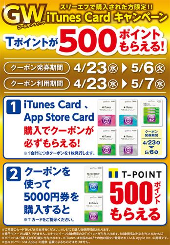 GW iTunes Cardキャンペーン